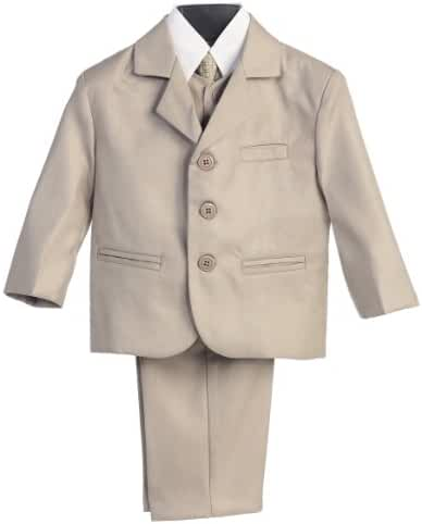 Toddler Boys Khaki Special Occasion 5pc Suit Set 4