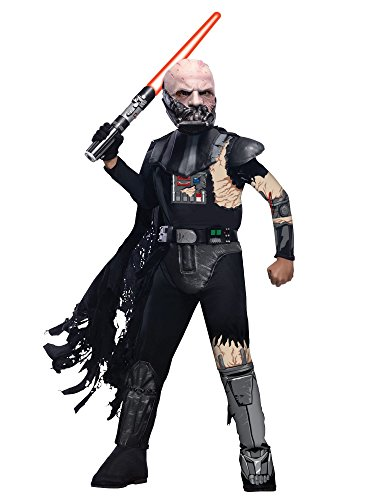 Vader Damaged Costume Darth Battle (Battle Damaged Darth Vader Kids)