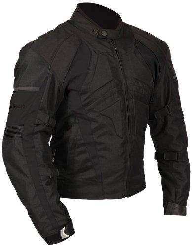 (Milano Sport Gamma Motorcycle Jacket (Black,)