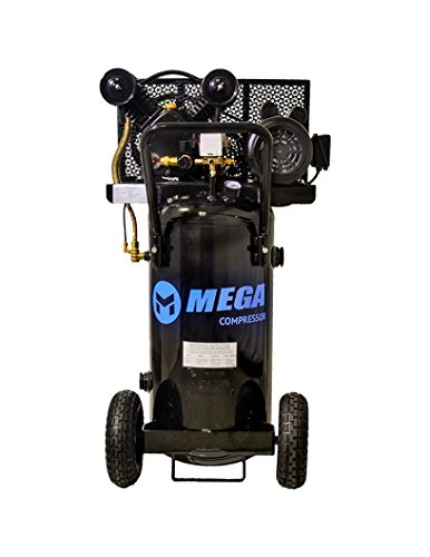 Megapower 5Hp Vertical Air Compressor, 115/230V - 1 Phase, 20 gallon, 2 Stage - MP-2020EV