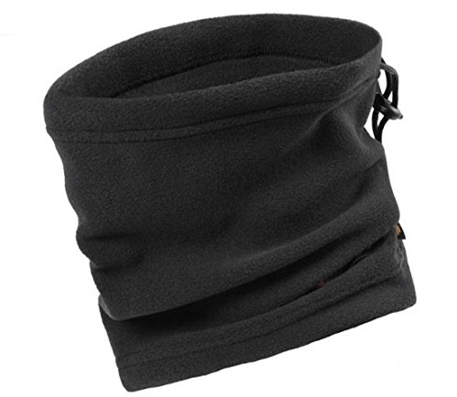 - Wowlife Classic Polyester Polar Fleece Neck Warmer Wind Stopper Face Mask Beanie Hat Scarf Hood Unisex Thermal Ski Wear Snowboarding Cycling Motorcycle CS Hiking (Black)