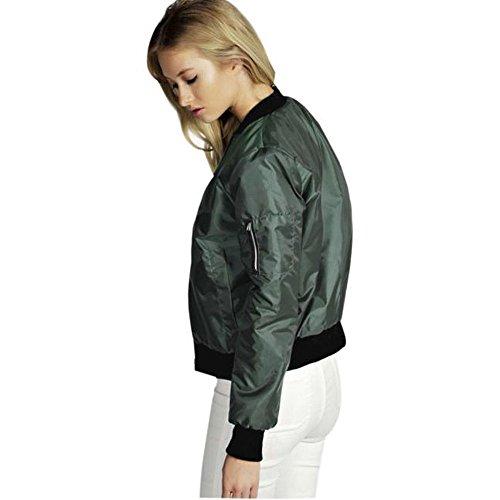 Automne Printemps Grande Cher Femme Manteau Vert Cardigan Zipper Outwear Blouson Hiver Femme Veste Jacket Pas Shirt Moto Casual Haut avec Femme Mode DAY8 Tops Poche Sweat Chic Taille Vtement qEpZwxX