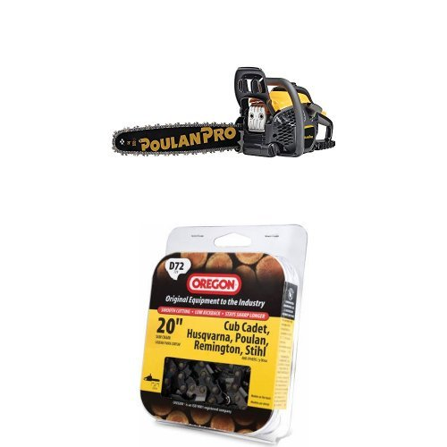 Poulan Pro 5020 Chain Saw and Replacement Chain by Poulan Pro