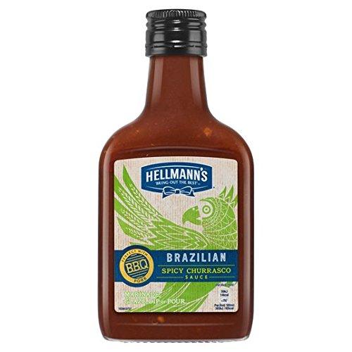 Picante salsa barbacoa brasileña 200ml de Hellmann: Amazon.es: Alimentación y bebidas