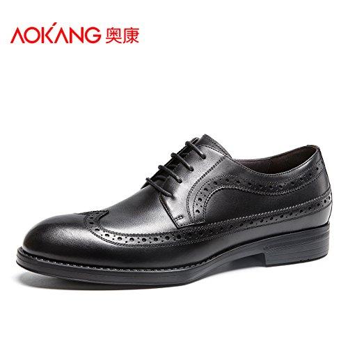 Aemember Scarpe Uomo scarpe da punta maschio Business tute per scarpe da uomo nero flusso di ,42,
