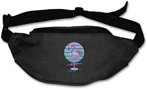 フラミンゴユニセックスアウトドアトロピカルドリンクファニーパックバッグベルトバッグスポーツウエストパック