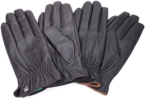 Luxury Dress Napa Leather Winter Gloves - Texting - Touchscreen – Cold  Weather - Driving – Waterproof - Fleece Liner - Dark chocolate Classic  Design - Large ... 3ba607dfa