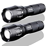 WTOR Flashlight Waterproof Tactical Zoomable Focus Powered Handheld LED Flashlight 2000 Lumens