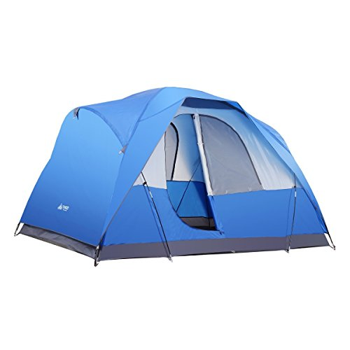 Semoo Water Resistant Lightweight 5 Person D-style Door Large Family Camping/Travelling Tent with Carry Bag