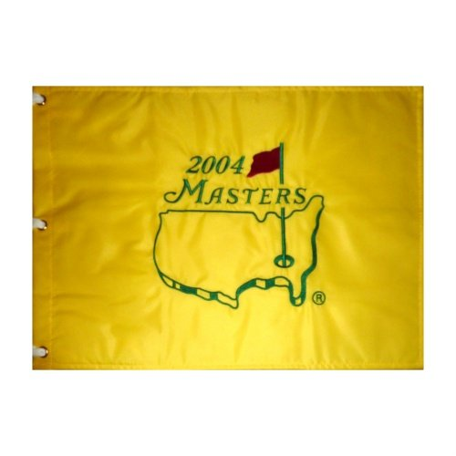 2004 Masters Embroidered Golf Pin Flag - Phil Mickelson Champion, Arnold Palmer Final