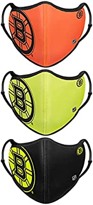 FOCO Unisex-Adult NHL Team Logo Sport Reusable Washable Fashion Face Cover Mask 3-Pack
