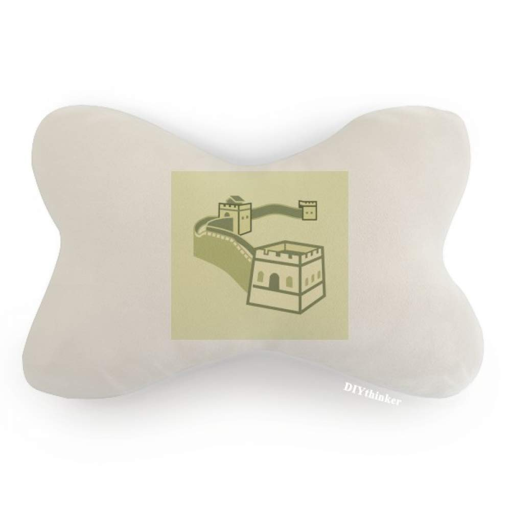 DIYthinker Great Wall China Pattern Car Neck Pillow Headrest Support Cushion Pad