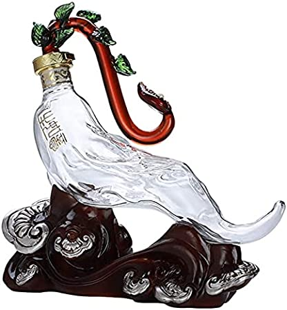 ZKDY Decantador de Whisky - Decoración de artesanía Transparente de Botella de Cristal Creativo Animal Usado para Vino Blanco Whisky Whisky Decantador de Whisky