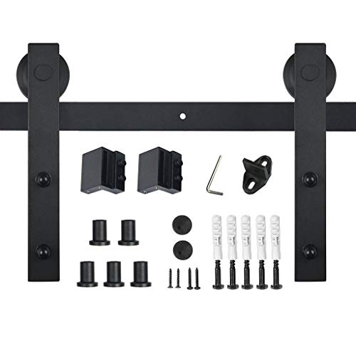 - PENSON & CO. PBD001 FBA_SDHA023BK Sliding Barn Door Hardware Set Black 6.6 FT-Antique Style