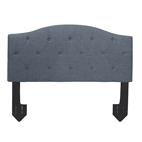 Silverwood FH1018-DGR Juliet Diamond Tufted Powered Headboard in Dark Grey, Queen