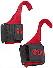 Grizzly Fitness Premium Weight Lifting Hooks with Neoprene Wrist Wraps for Men and Women | Sold in Pairs | One