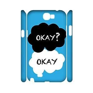 E-Isam Samsung Galaxy Note 2 N7100 case Okay Okay,Customized Hard 3D Case