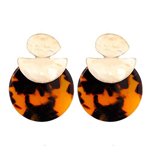 Hoop Earrings Nfl - Leopard Earrings For Women Statement Acrylic Geometric Unique Design Style Earrings Fashion Jewelry