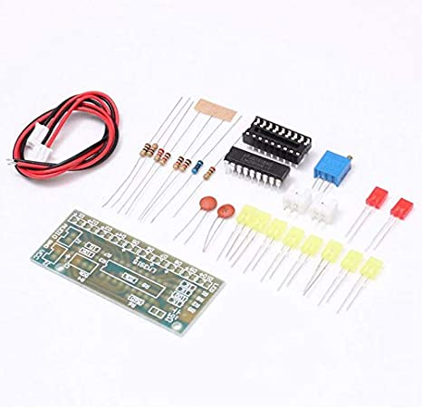 Nrpfell Lm3915 ensemble DIndicateur de Niveau Audio Diy 10 Led ensemble DIndicateur de Niveau Danalyseur de Spectre Audio de Son ensemble de Soudure Electronique
