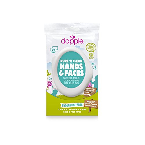 Dapple Pure N Clean Moisturizing Hand and Face Wipes, Soft Pack, White, 30 Carton