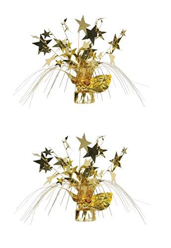 Beistle S57919GDAZ2 Gleam Spray centerpieces, - Gold Spray Centerpiece