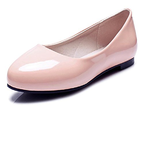 Women Flats Spring New Elegant Classics Dress Plus Size 31-52 Round Head Flat Heels Lady Shoes for Woman Slip On OX084 Red 6 (Kaufen Ray)