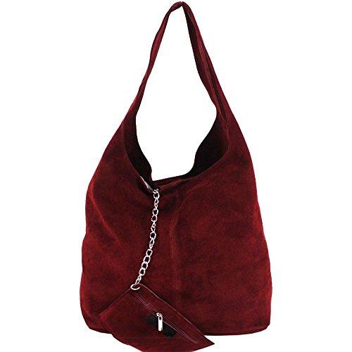 Hautefordiva , Sac pour femme à porter à l'épaule noir grand Bordeaux