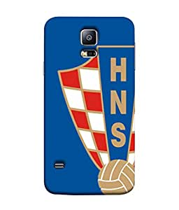 ColorKing Football Croatia 06 Blue shell case cover for Samsung S5
