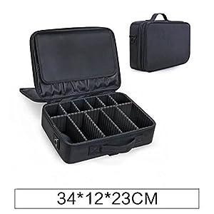 New BEST Professional Makeup Case Travel Makeup Bag Makeup Artist Cosmetic Train Case Cosmetic Organizer Big Makeup Bag Perfect Gift - Makeup Organizer & Makeup Brush Holder Bag