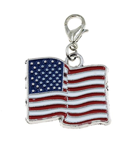 Charm Flag Pendant Usa (Best Wing Jewelry Clip-on