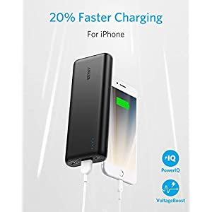 Portable Charger Anker PowerCore 20100mAh - Ultra High Capacity Power Bank with 4.8A Output, External Battery Pack for iPhone, iPad & Samsung Galaxy & More (Black)