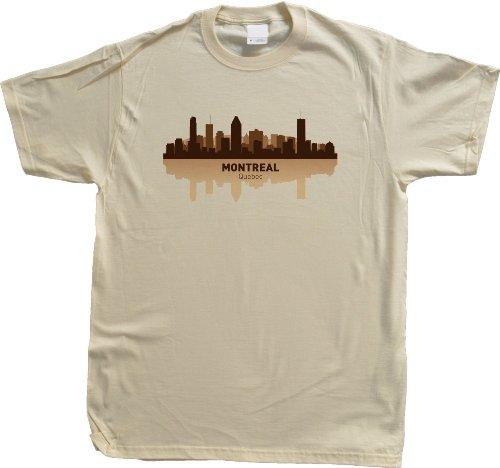 Montreal, Canada City Skyline Unisex T-shirt Tan Quebec Pride Tee