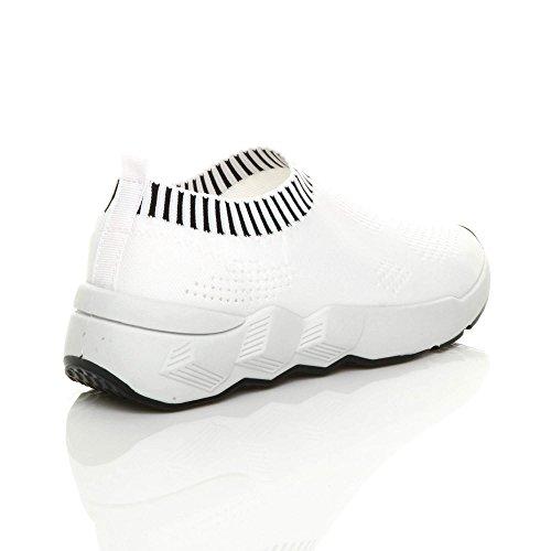 Blanc Pour Femme Mode Ajvani Baskets EIq0Iw8