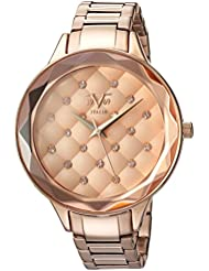 Wrist Armor Womens Quartz Metal and Alloy Casual Watch, Color:Rose Gold-Toned (Model: 37VW200301A)
