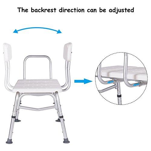 Giantex Shower Bath Seat Medical Adjustable Bathroom Bath Tub Transfer Bench Stool Chair by Giantex (Image #5)