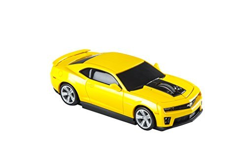 AutoMouse Chevrolet Camaro ZL 1 Car Wireless Laser Computer Mouse, Yellow