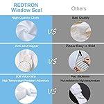 REDTRON-400CM-Guarnizione-Universale-per-Finestre-per-Condizionatore-Portatile-Asciugatrice-AirLock-per-Tutti-Condizionatori-Portatili-Hot-Air-Stop-Facile-da-Installare