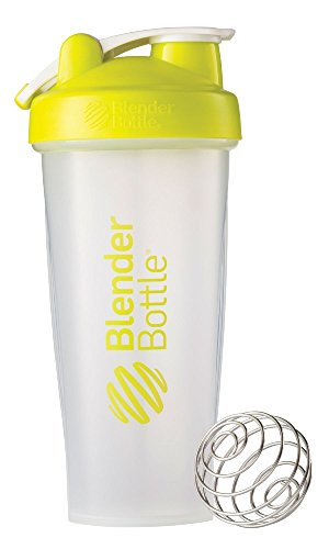 BlenderBottle Classic Shaker Bottle, Clear/Green, 28-Ounce