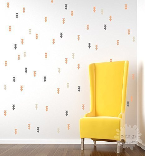 Amazon.com: Triple Triangle Wall Decal / Tiny Triangle Sticker ...