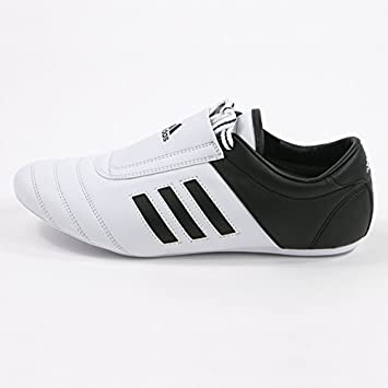 adidas KICK Shoes Martial Arts Sneaker White with Black Stripes (4)