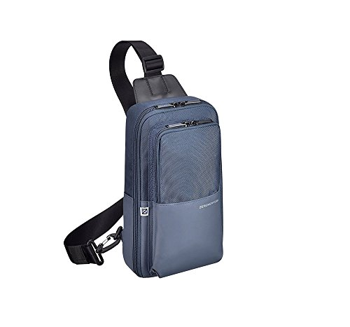 (Zero Halliburton Gramercy Sling Bag, Nylon Backpack in Navy)