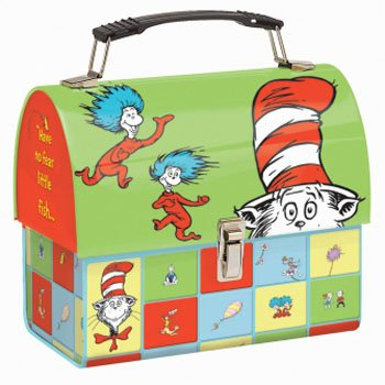 Dr Seuss Cat in the Hat Dome Tin Tote Lunch Box LunchBox New - Dr Tin Seuss