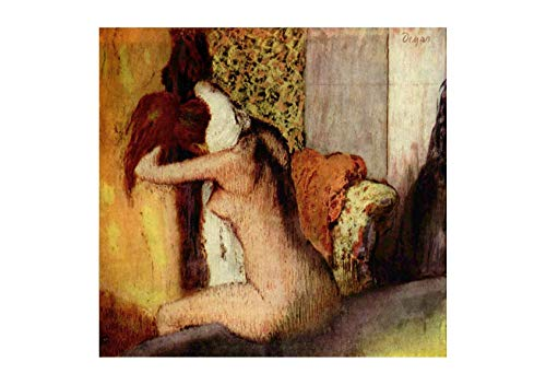 (Spiffing Prints Edgar Degas After The Bath - Small - Semi Gloss - Unframed)
