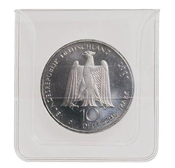 Lindner 2051 Münzen Hüllen Aus Glasklarer Pvc Folie 100 St