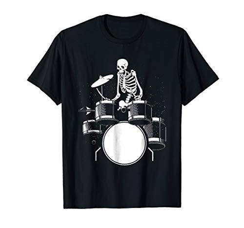 Skeleton Drummer Halloween Costume Gift T-Shirt for $<!--$16.99-->