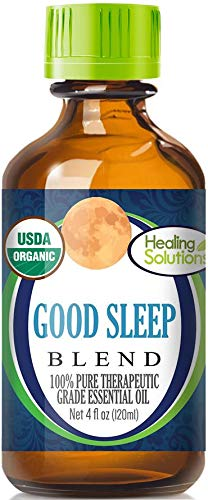Organic Good Sleep Blend Essential Oil (100% Pure - USDA Certified Organic) Best Therapeutic Grade Essential Oil - 120ml