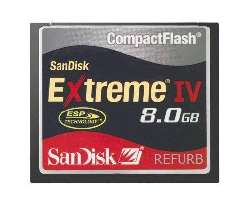 - SanDisk 8GB Extreme IV CF Compact Flash Memory Card SDCFX4-008G-901 (Renewed)