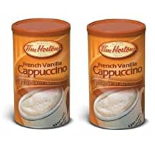 Tim Hortons Rich and Delicious Cappuccino, French Vanilla, 454 Grams/16 Ounces - 2 Pack