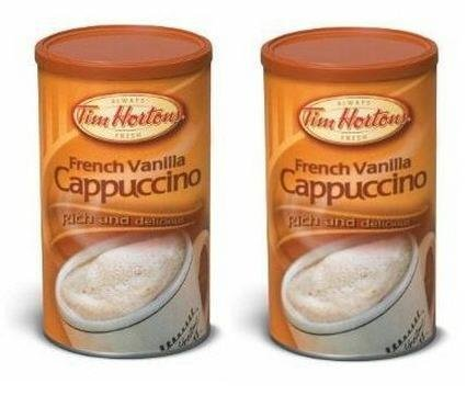 Tim Hortons French Vanilla Cappuccino Beverage Mix – Two 16oz Cans - Imported from Canada