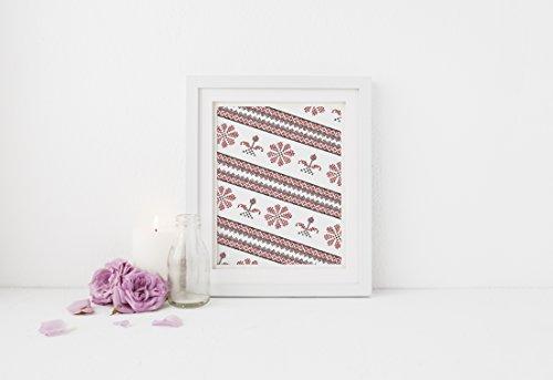 [Palestinian Embroidery Tatreez Design - Flat 8x10